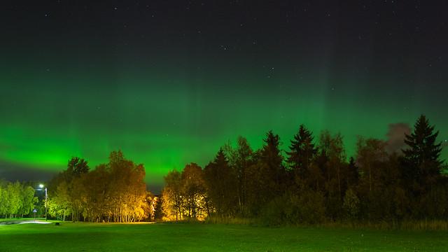 Virmalised Maardu linnas 07.10.2018 - Northern Lights in city Maardu in Estonia