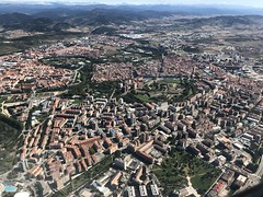 An incredible view of Pamplona(bask. Iruña) in Northern Spain after start from Pamplona Airport(IATA: PNA, ICAO: LEPP).