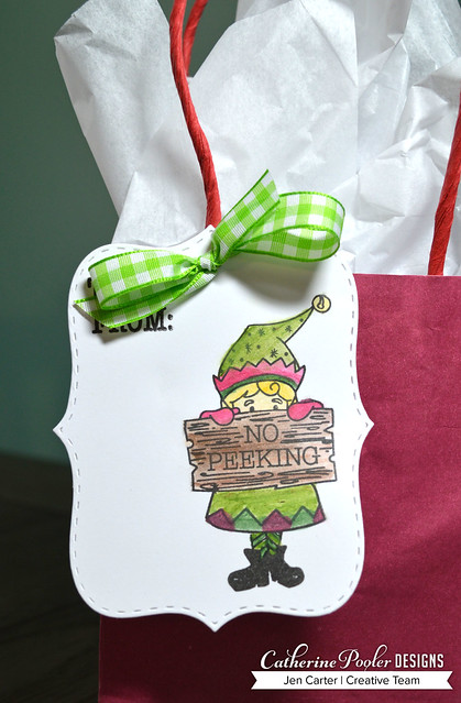 Jen Carter Make Own Tags Santa Approved Bag by Sadie Closeup