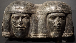 Corbel with Heads of Northern Foes, the Basement, Pharaonic Period, the Alexandria National Museum, the Mediterranean, Egypt.