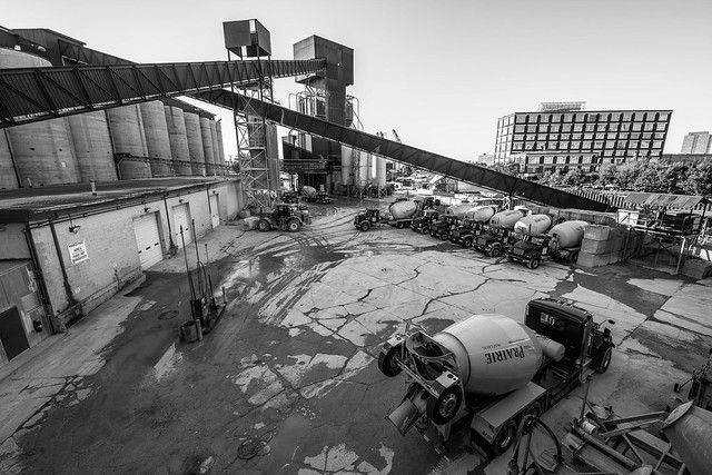 Cement trucks a many