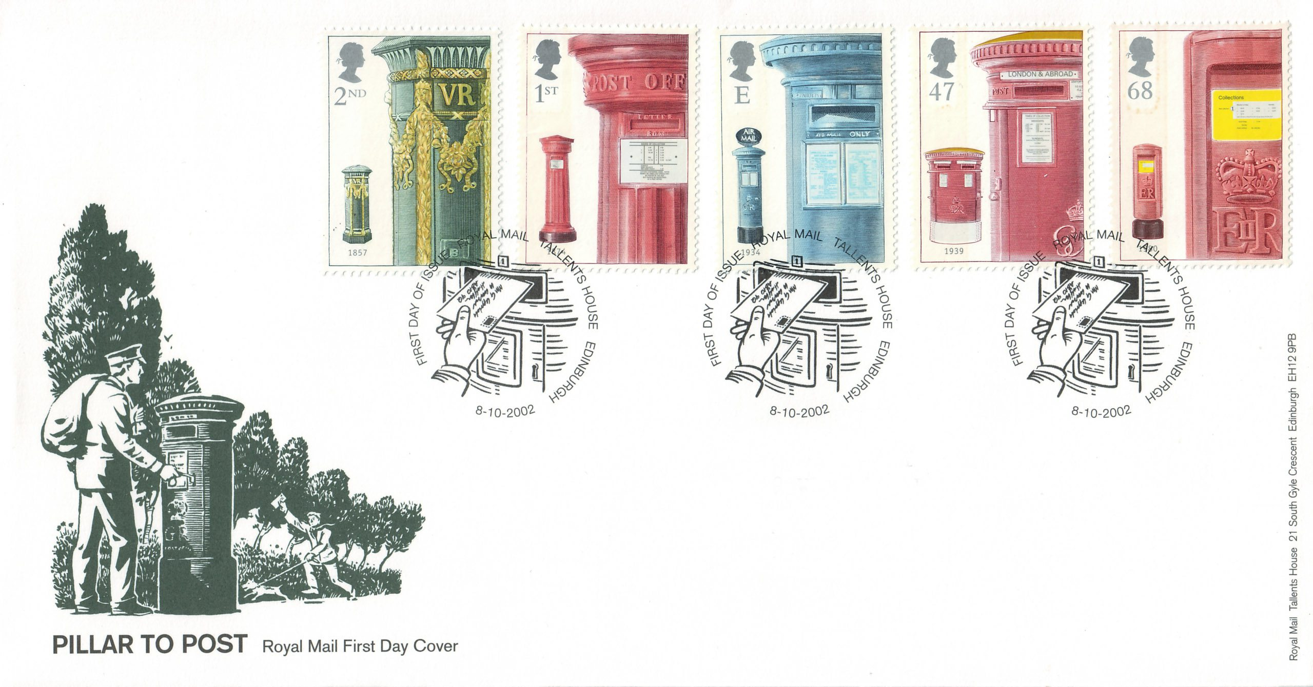 Great Britain - Scott #2076-2080 (2002) first day cover
