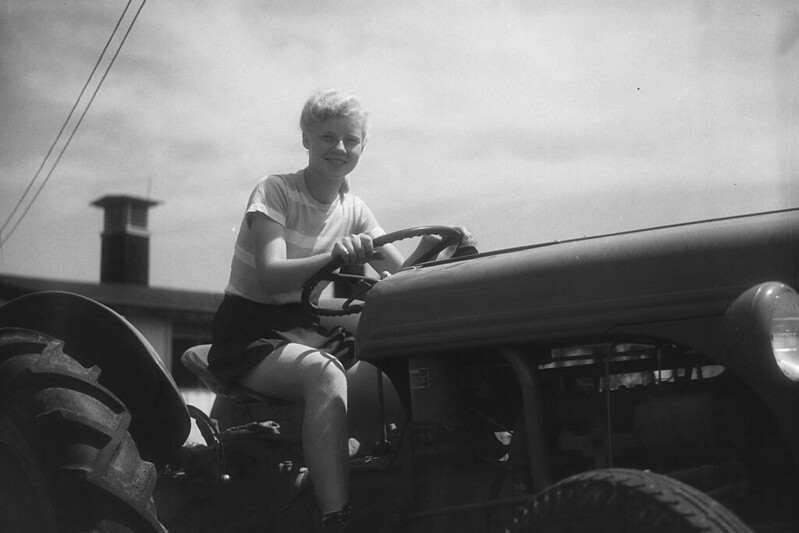Glenna Miller on Tractor
