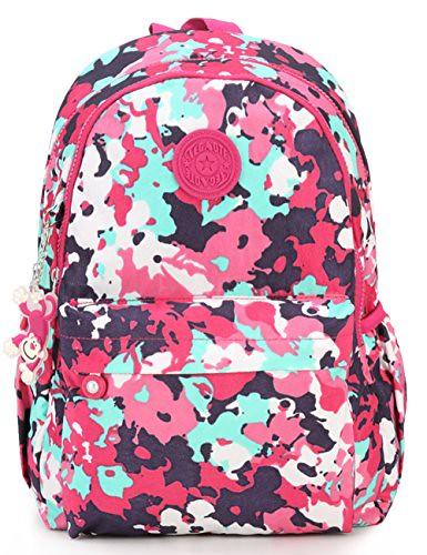 Oakarbo Backpack Small Mini Junior School Bag Cute Nylon Travel Daypack (#6) Review
