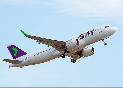 SKY A320neo CC-AZC delivery flight (Airbus)