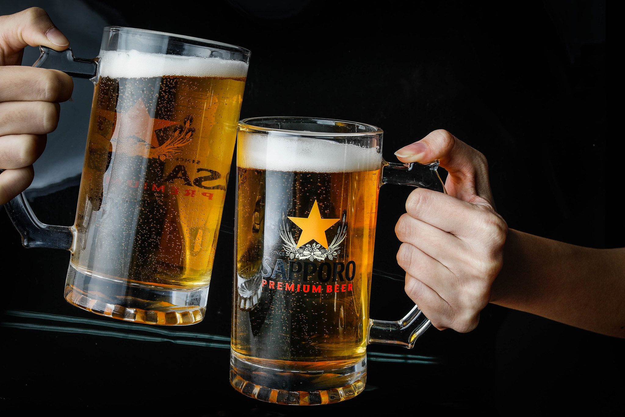 Sapporo Premium Beer cups