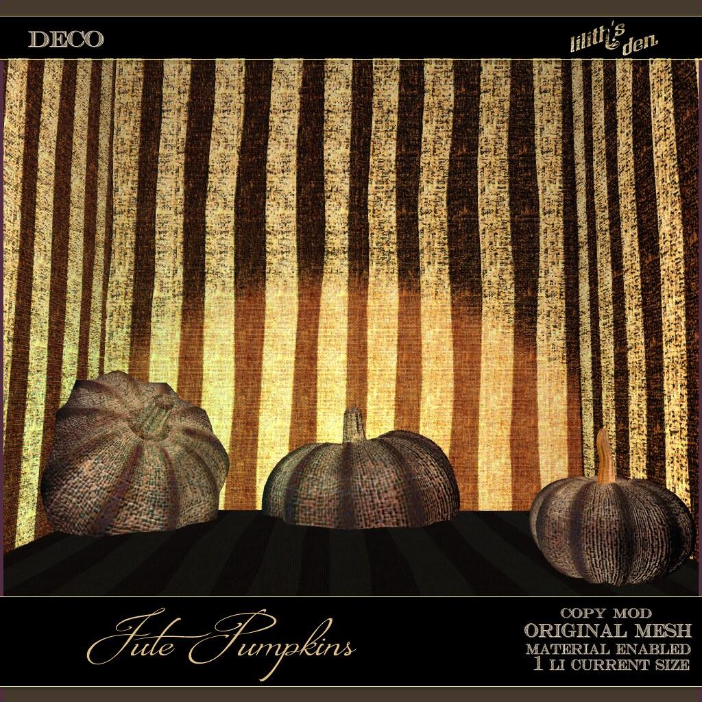 Lilith's Den -  Jute Pumpkins - TeleportHub.com Live!