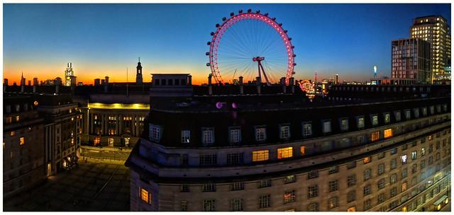 Waterloo sunset, London.