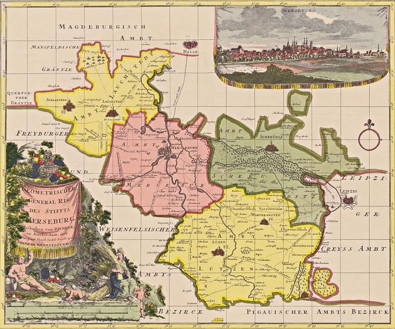 Peter Schenk - Die Ämter Lauchstädt, Merseburg, Schkeuditz und Lützen (c.1740)