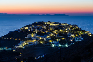 before sunrise, Kastro, Sifnos, Greece
