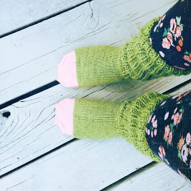 Knit sloth Socks
