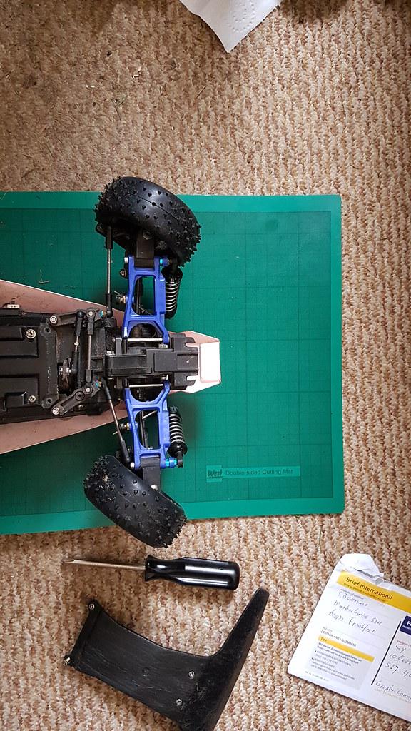 Improved Ackerman on the Tamiya Thunder Dragon / Thundershot / Terra Scorcher / Fire Dragon chassis.