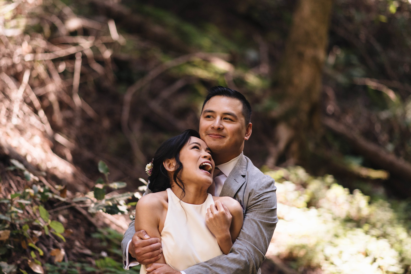Playful Couple Wedding Photography on juliettelaura.com