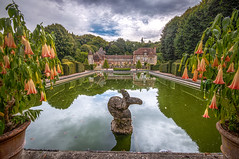 Château de Boutemont, charm reflected in its ornamental pool, Ouilly-le-Vicomte, Calvados, Normandy, France - Photo of Pierrefitte-en-Auge