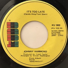 JOHNNY HAMMOND:WORKIN' ON A GROOVY THING(LABEL SIDE-B)