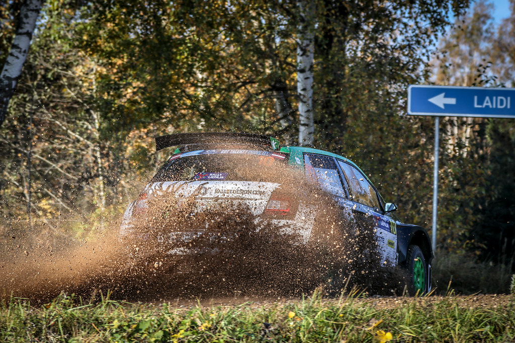 10 YATES Rhys, (GBR), Elliott EDMONDSON, (GBR), Skoda Fabia R5, Action during the 2018 European Rally Championship ERC Liepaja rally,  from october 12 to 14, at Liepaja, Lettonie - Photo Alexandre Guillaumot / DPPI