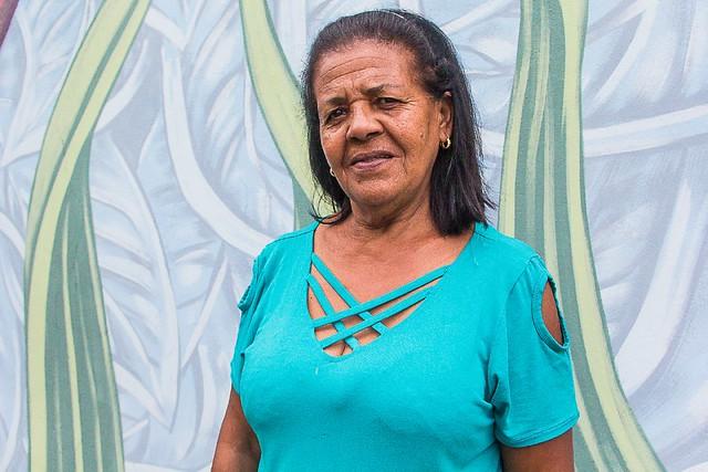 Vera Lúcia Silva viu sua casa ser destruída pela lama de rejeitos de minério de ferro da barragem da Samarco - Créditos: Mídia Ninja