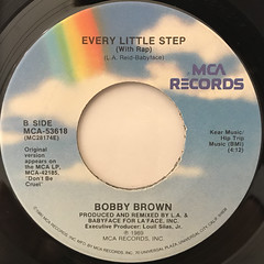 BOBBY BROWN:EVERY LITLLE STEP(LABEL SIDE-B)