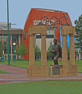 Pierre de Counertin Statue in Centennial Olympic Park, Atlanta, Georgia