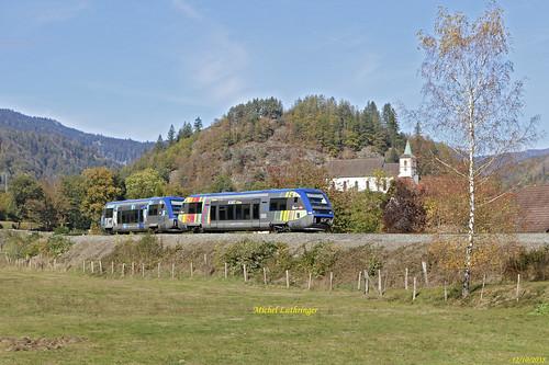 UM X73910-Alsace-X73564-Normandie- TER 832777 Kruth-Mulhouse à Oderen