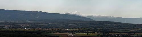 Le mont blanc depuis Fort l'Ecluse