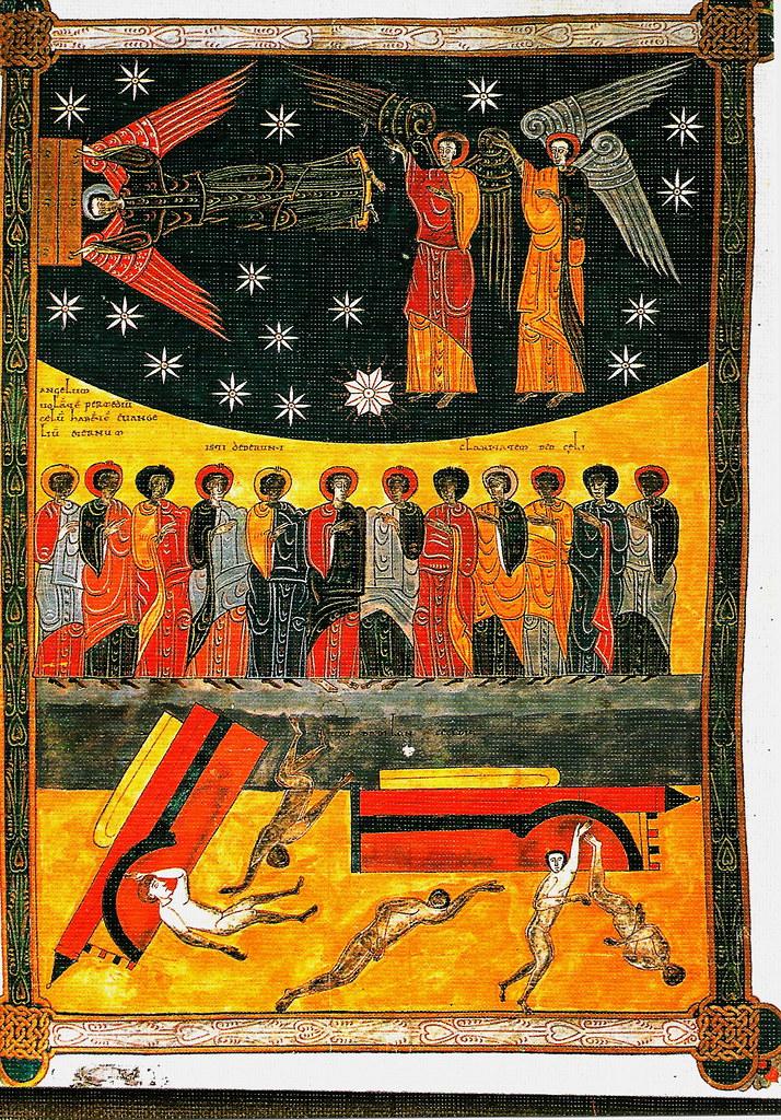 Los ángeles invocando la ira de Dios. Ap. XIV, 6-13