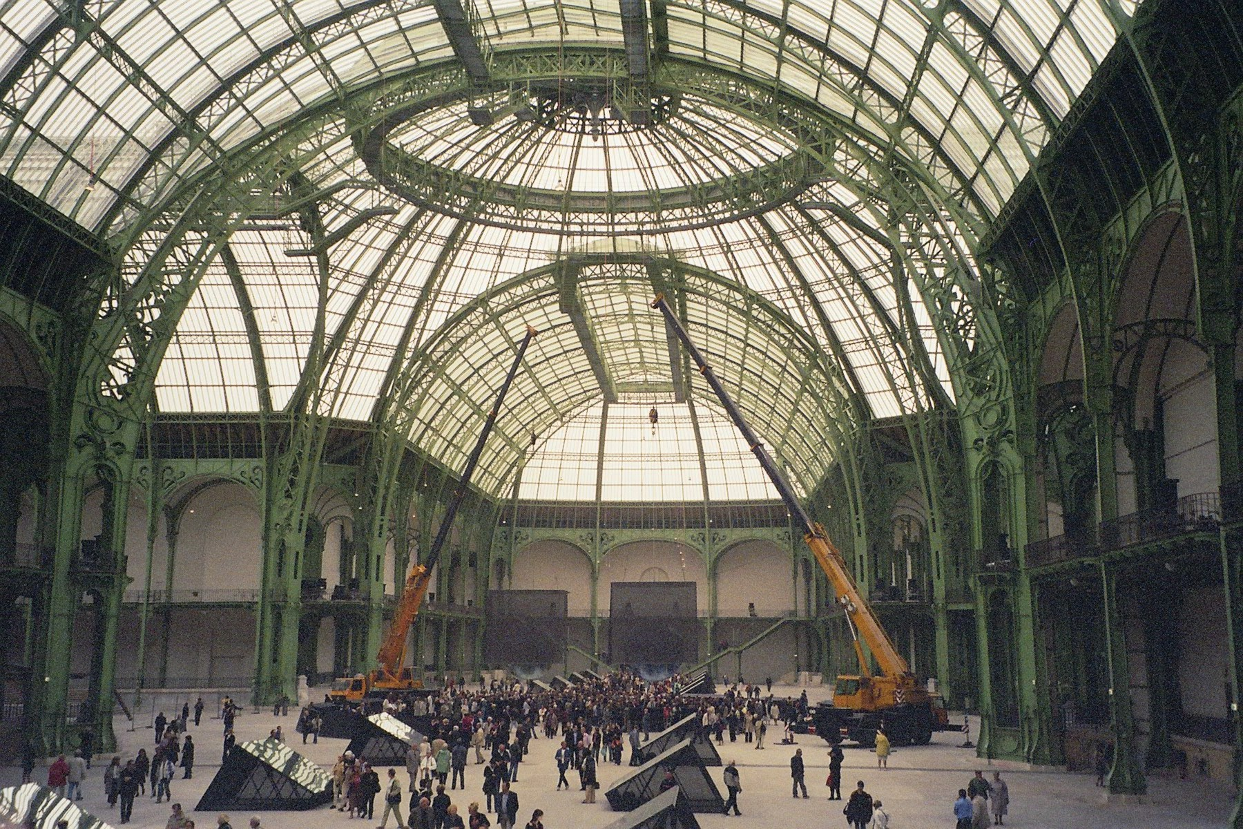 The interior of the Grand Palais, photographed on January 7, 2006.