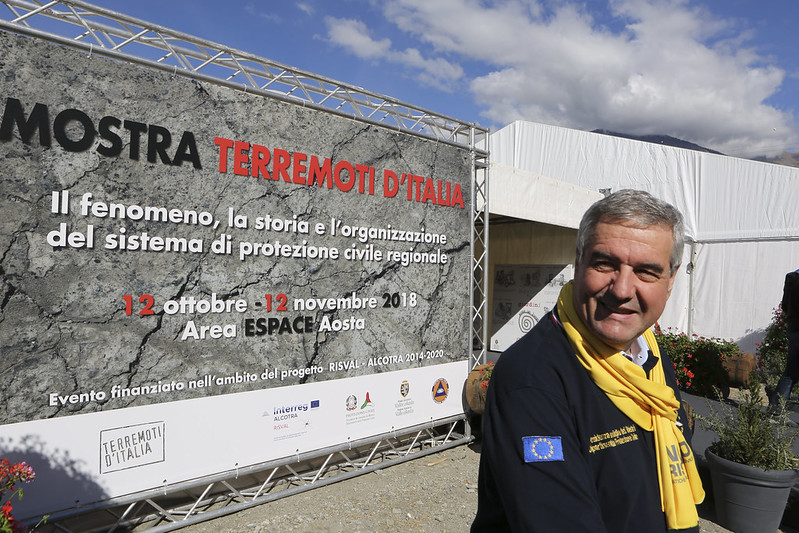 "Mostra ""Terremoti d'Italia"" Aosta 2018"