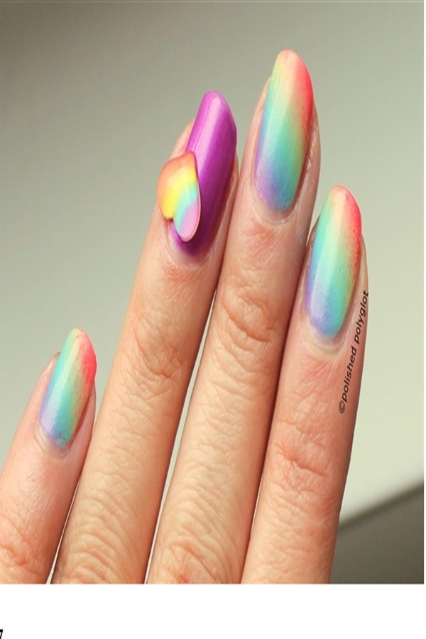 30+ Fun & Easy Rainbow Nail Art Ideas to Copy Right Now #rainbow_nails #nail_art_ideas #nail_designs #manicure