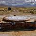 Radio mast base remains