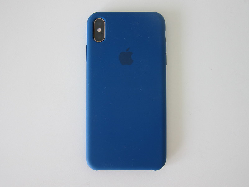Apple iPhone XS Max Silicone Case - With iPhone XS Max - Back