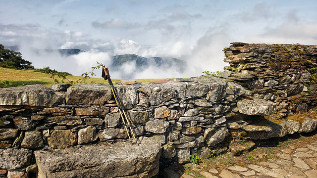 Photo:Above the clouds at the ruined pilgrim's refuge on Alto de Montouto on the Camino Primitivo By Landscape and Travel