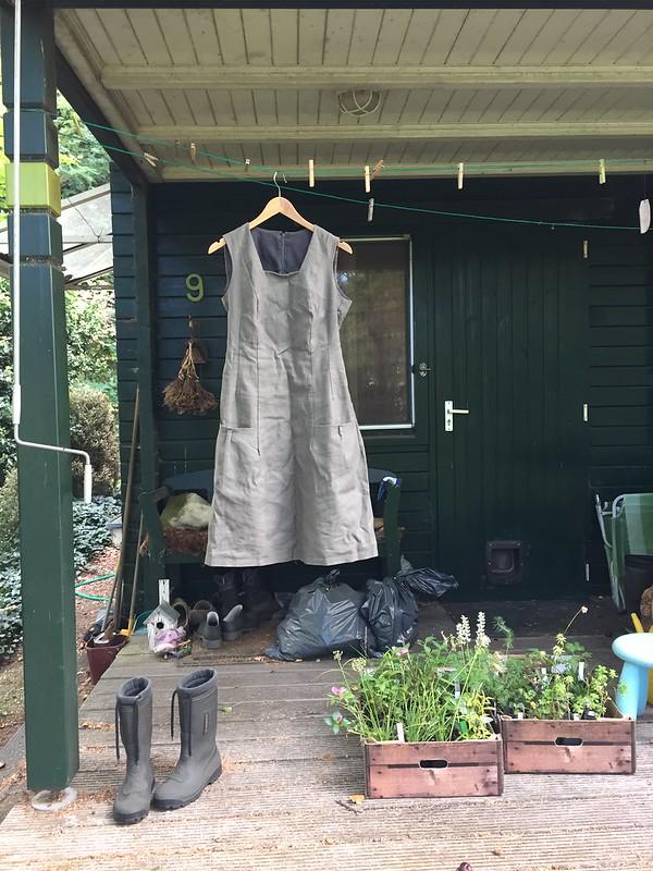 handsewn canvas dress cabin pippi longstocking langkous pockets sewing