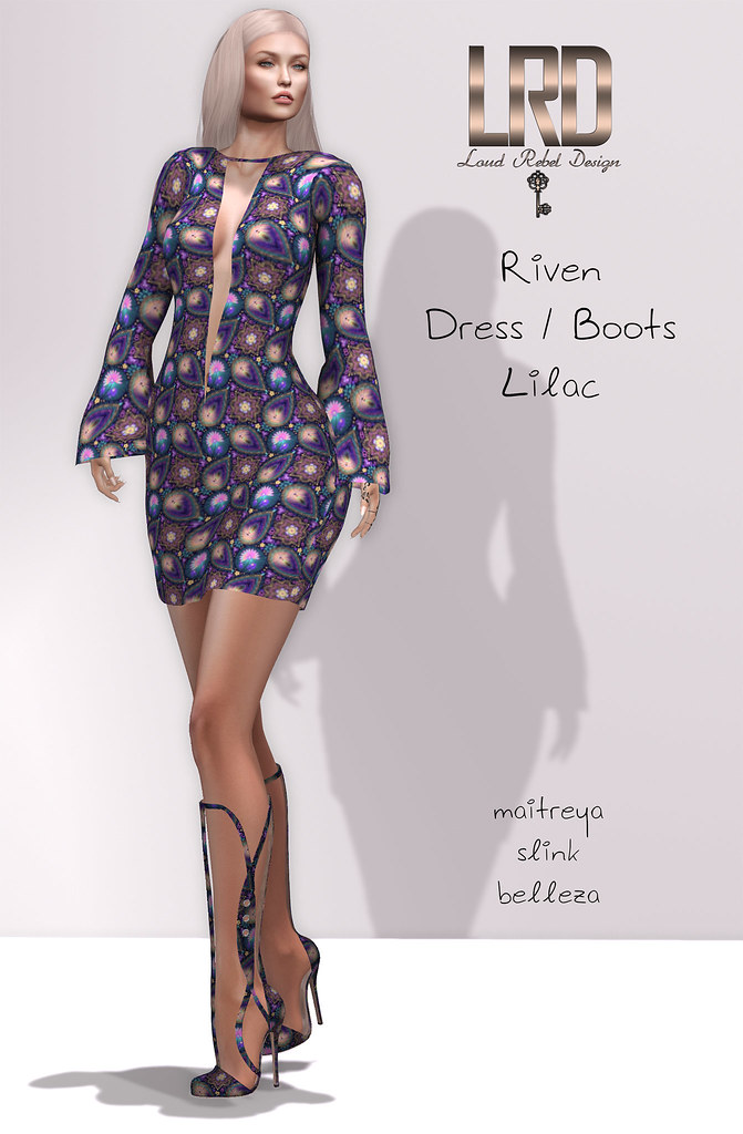 LRD Riven dress and boots lilac - TeleportHub.com Live!