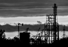 Saltend dusk sunset bw 2