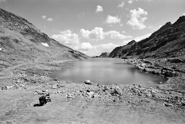 Innerfragant Lake and Motorcycle