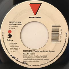 ENTOUCH FEATURING KEITH SWEAT:ALL NITE(LABEL SIDE-B)