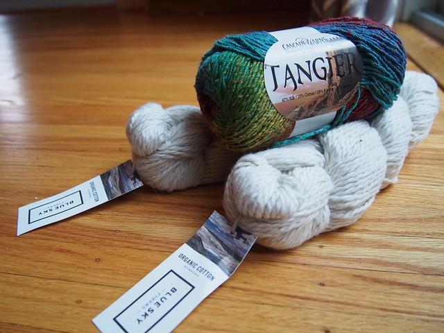 Non-wool yarn for babyStripes!
