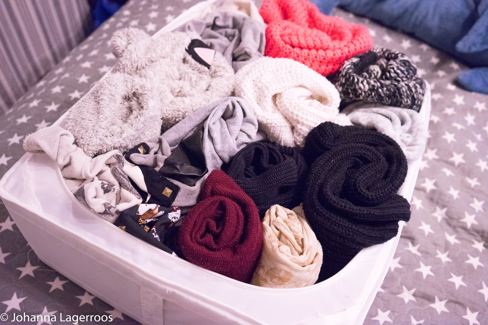 decluttering closet