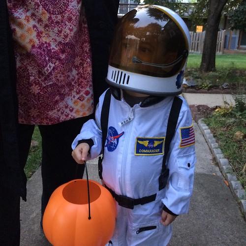 Ezra as astronaut for Halloween