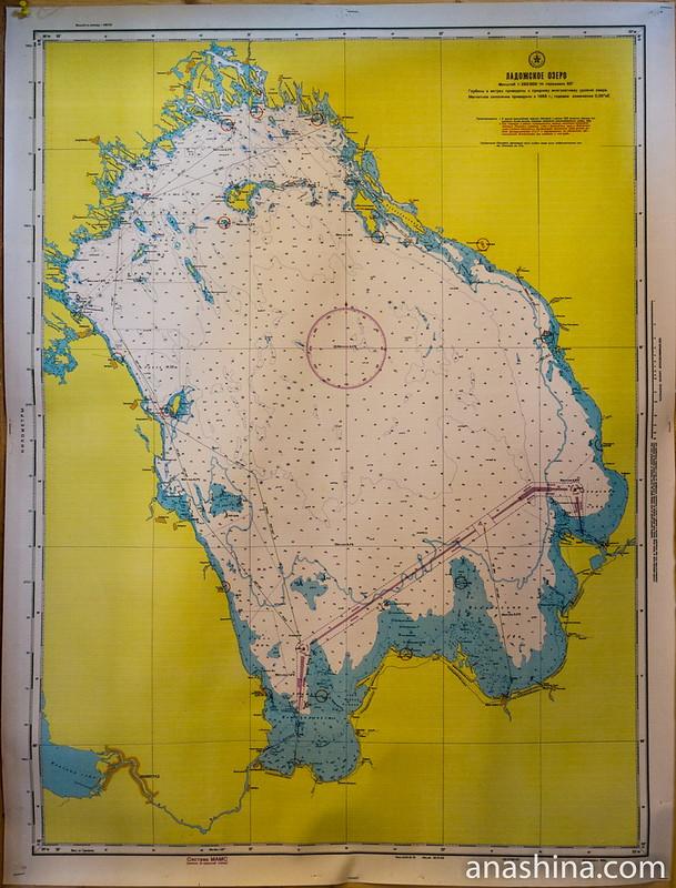 Карта Ладожского озера