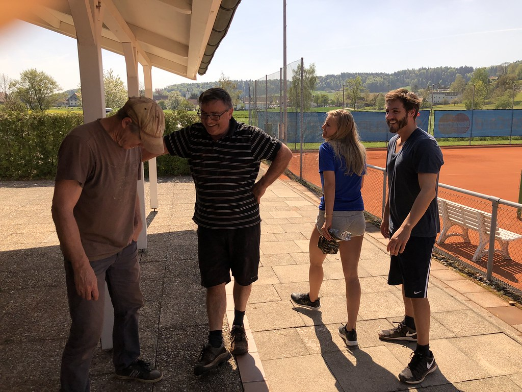 Aufbau Tennisplatz 2018