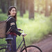 Bugphai ;-) posted a photo:Thai woman with their bikes in the nature, Lifestyle of Asian woman concept
