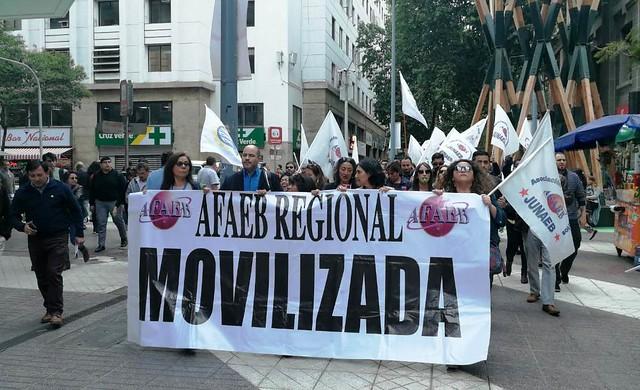 Protesta por despidos arbitrarios en JUNAEB (13-11-2018)