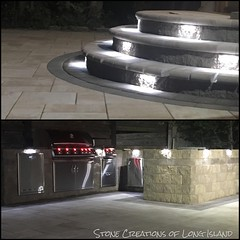LED Lighting for our Patio Features - #queens #outdoorliving