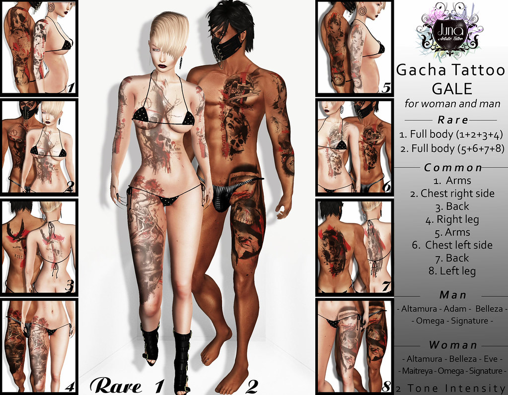 Juna Gacha: Gale tattoo for man and woman - TeleportHub.com Live!