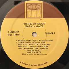 MARVIN GAYE:HERE, MY DEAR(LABEL SIDE-D)