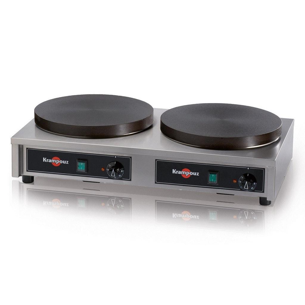 CECIG3 Crepiera elettrica doppia Luxury in ghisa 2 x 35 cm