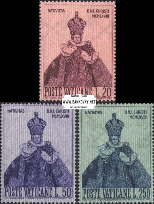 Známky Vatikán 1968 Vianoce, nerazítkovaná séria