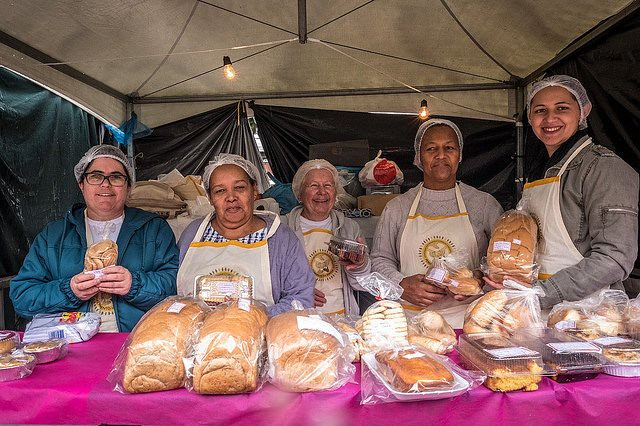 Associação das Padarias e Cozinhas Comunitárias é uma das frentes da economia Solidária - Créditos: Gibran Mendes
